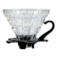 Tiamo Slow Coffee V02 dripper Glas Filter Koffie