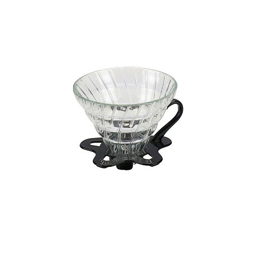 Tiamo Slow Coffee V02 dripper Glas Boven