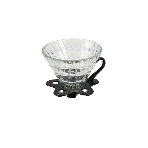 Tiamo Slow Coffee V02 dripper Glas Boven