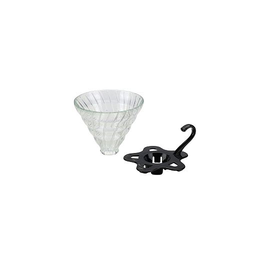 Tiamo Slow Coffee V02 dripper Glas Demontabel