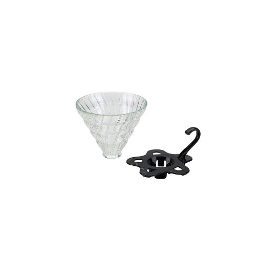 Tiamo Slow Coffee V02 dripper Glas Demontabel