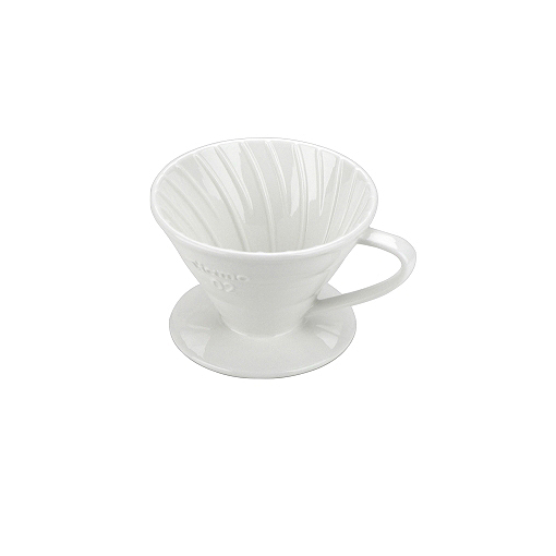 Tiamo V02 Slow Coffee dripper porselein filter koffie boven